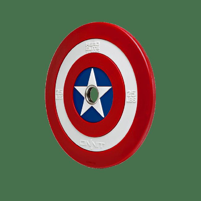 25lb Captain America Shield Barbell Plate