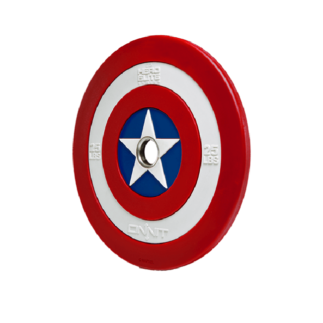 25lb Captain America Shield Barbell Plate V2