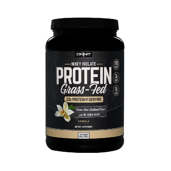 Onnit Grass Fed Whey Isolate Protein - Vanilla (780g tub)