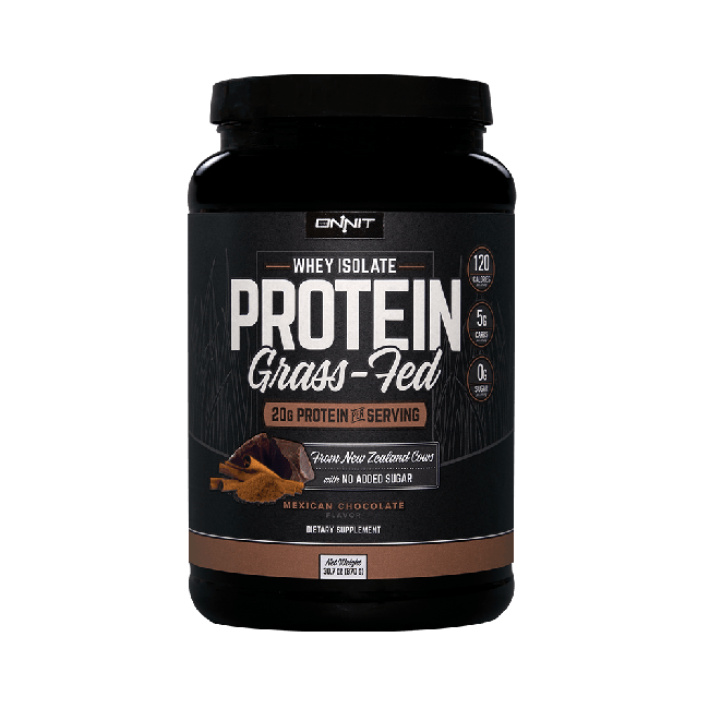 Onnit Grass Fed Whey Isolate Protein - Mexican Chocolate (870g tub)