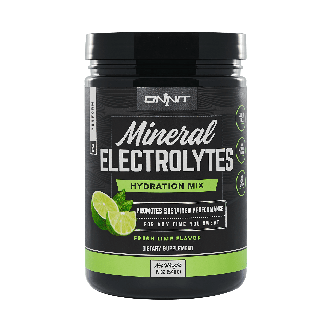 Mineral Electrolytes Hydration Mix - Fresh Lime (60 serving tub)