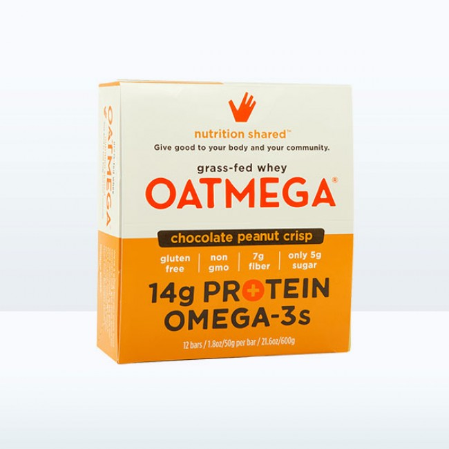 Oatmega Chocolate Peanut Crisp Protein Bar (Box of 12)