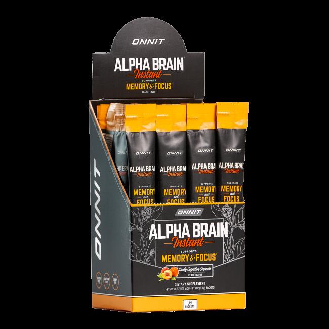 Alpha BRAIN® Instant - Peach (30ct box)