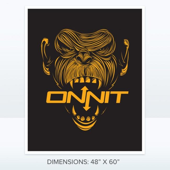 Onnit Primal Chimp Banner (orange/black)