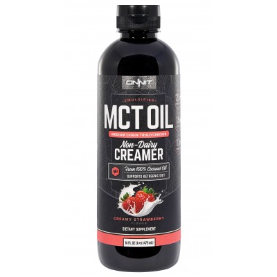 Emulsified MCT Oil - Creamy Strawberry (16oz)