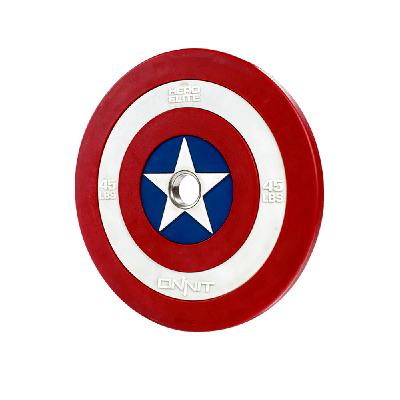 Captain America Shield Barbell Plate (45lb)