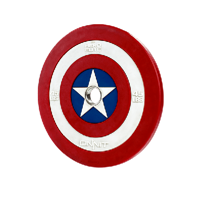 45lb Captain America Shield Barbell Plate V2