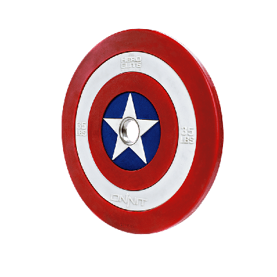 Captain America Shield Barbell Plate (35lb)