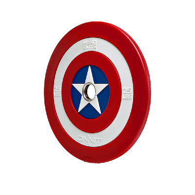 Captain America Shield Barbell Plate (25lb)