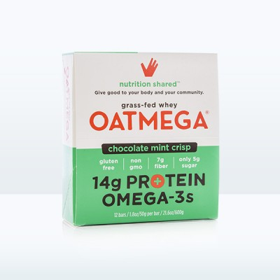 Oatmega Chocolate Mint Crisp Protein Bar (Box of 12)
