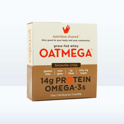 Oatmega Brownie Crisp Protein Bar (Box of 12)